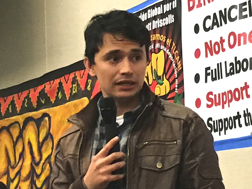 Immigrant rights activist Luis Angel Reyes Zavalza