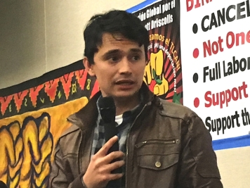 Immigrant rights activist Luis Angel Reyes Zavalza