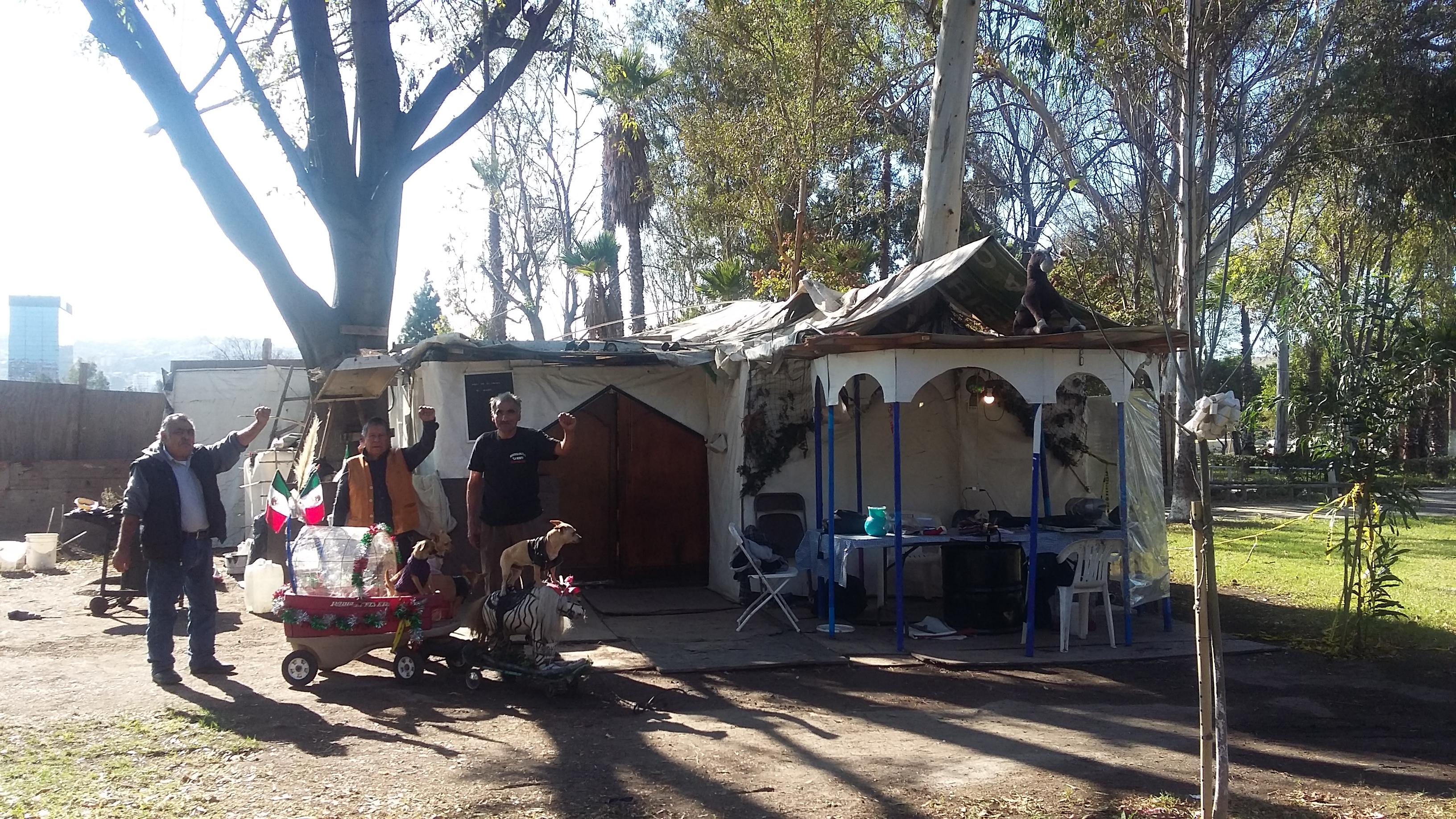 Encampment at Parque Benito Juarez in Tijuana