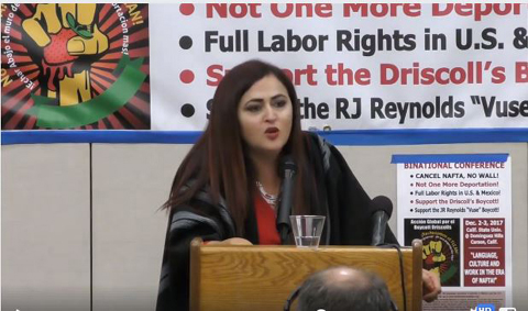 Susana Prieto, organizer of maquiladora workers in Ciudad Juarez, Mexico